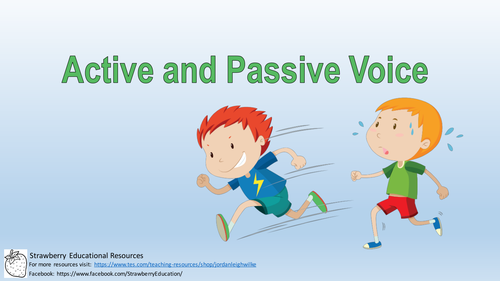 Active and Passive Voice Presentation