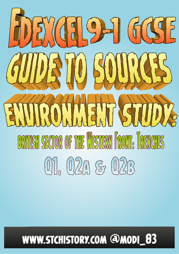 Edexcel 9-1 'How to...' Environment Study - British Sector of the Western Front
