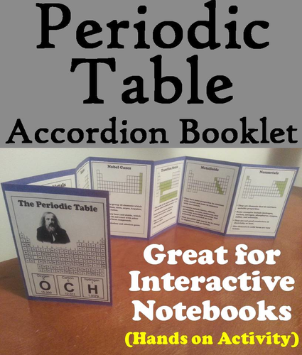 Periodic table of elements accordion booklet by sciencespot periodic table of elements accordion booklet by sciencespot teaching resources tes urtaz Gallery