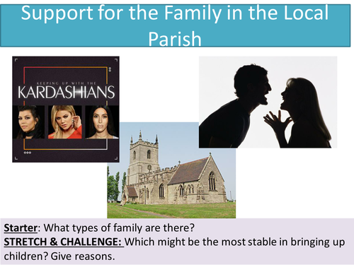 2.4 Support for the family in the local parish - NEW Edexcel - Marriage and the Family