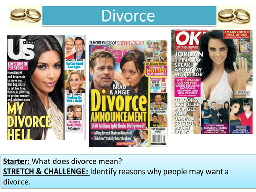 2.6 Divorce - New Edexcel - Marriage and the Family