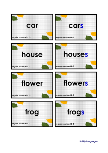 Plural Nouns Practice 1, two games in one