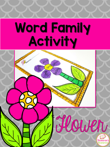 Word Family Activity {Flower}