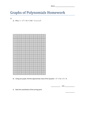 GCSE 9-1 Maths Graphs of Polynomial Functions