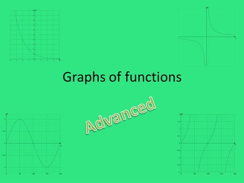 GCSE 9-1 Maths Advanced Graphs