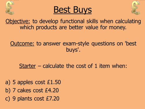 Best Buys Teaching Resources