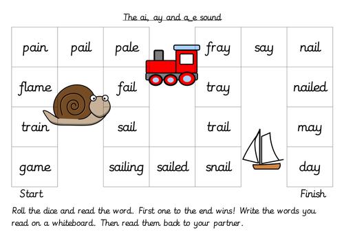 Alternative spelling patterns board games