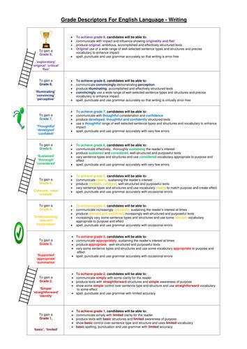 GCSE English Language Learning Ladder Writing