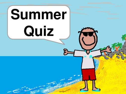 Summer Quiz - End of Term Quiz - Music Round - Movie Round + Answers