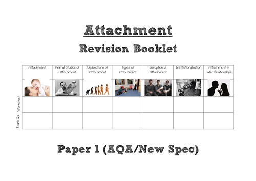 AQA A Level Psychology (New Spec) Attachment WHOLE TOPIC Revision Book [Paper 1]