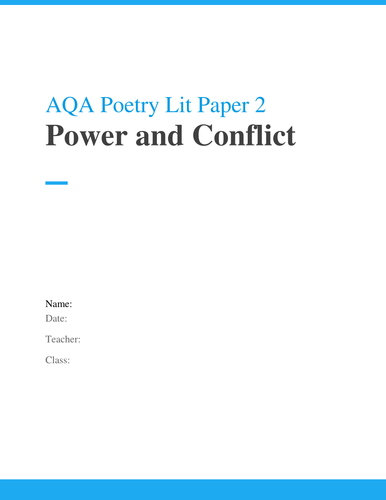 AQA Poetry Revision Workbook