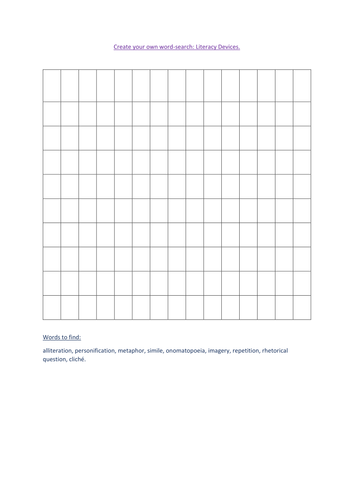 Literacy devices word -search.