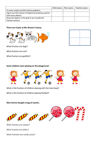 Year 2 Fractions