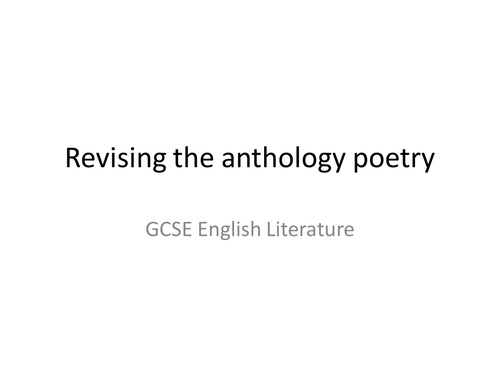 AQA GCSE English Literature Power and Conflict Poetry Revision