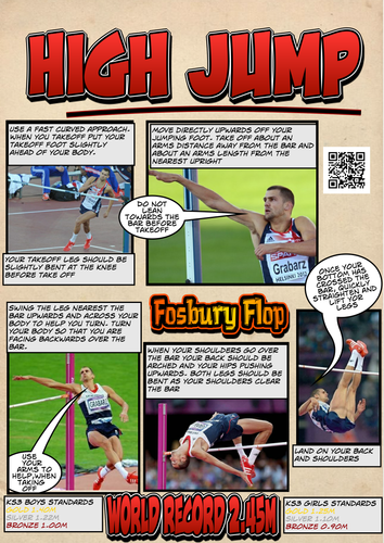 High Jump Analysis and Results sheets