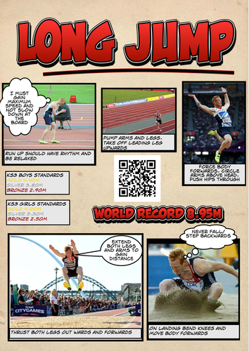 Long Jump Analysis and Results sheets