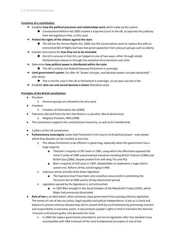 Edexcel Government & Politics AS-level: Unit 2 revision notes