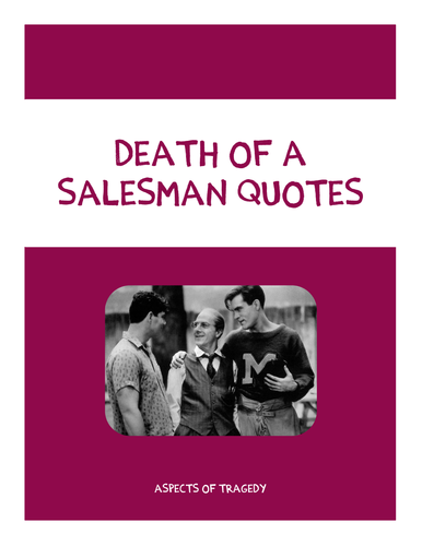 Death of a Salesman Quote Booklet