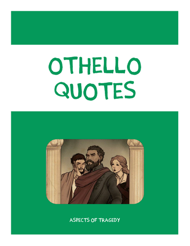 Othello Quotes Booklet