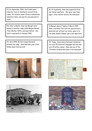 Anne Frank case study - the Holocaust