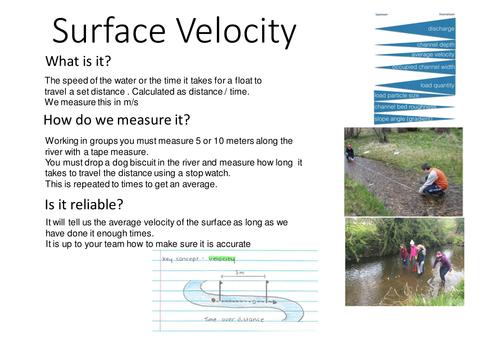 New AQA GCSE - Rivers Fieldwork Techniques Preparation
