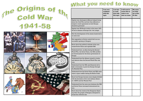 Edexcel GCSE Superpower relations and the Cold War: Topic 1 The Origins of the Cold War 1941-58