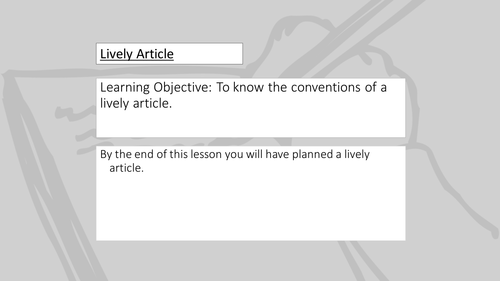Transactional Writing: Lively Article