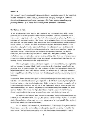 AQA English Language Paper 1 Practice paper