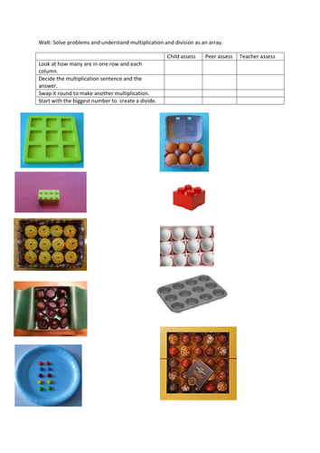 Year 2 Real life arrays