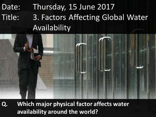 3. Factors Affecting Global Water Availability