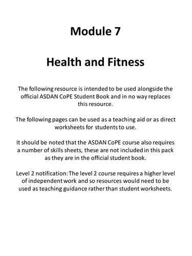 CoPE Module 7 Resource Pack