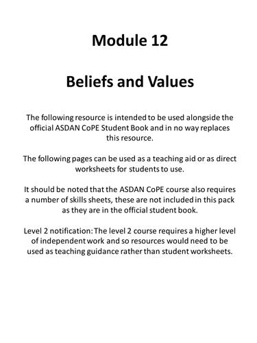 CoPE Module 12 Resource Pack
