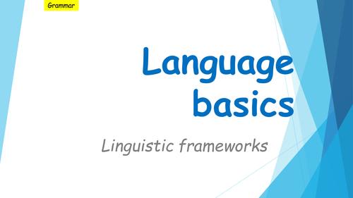 AS/A Level Language Study frameworks