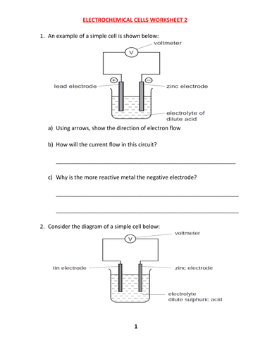 Electrochemical cells worksheet with answer by kunletosin246 electrochemical cells worksheet with answer by kunletosin246 teaching resources tes ccuart Image collections