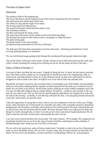 Non Fiction, KS3, Scott's Diary, Inference, Reading Skills, PEE