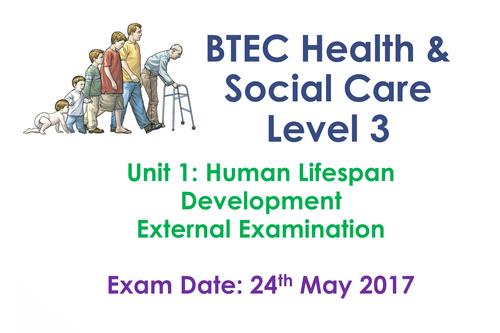 New Level 3 BTEC Unit 1  Human Lifespan Development *Whole Unit*