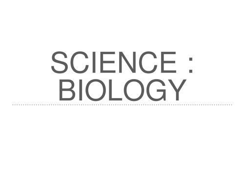 GCSE Biology powerpoint