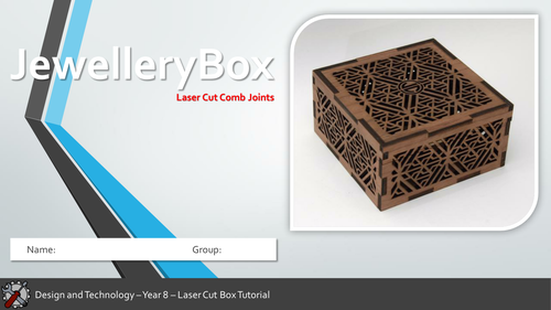 KS3 Laser Cut Jewellery Box (Full project, PPT, worksheets, SoW)