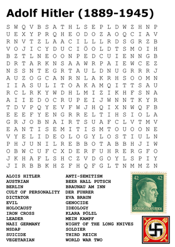 Adolf Hitler Word Search