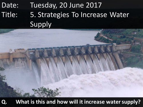 5. Strategies To Increase Water Supply