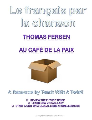 Chanson: Au café de la Paix - révision du futur + thème sans-abris et problèmes de société