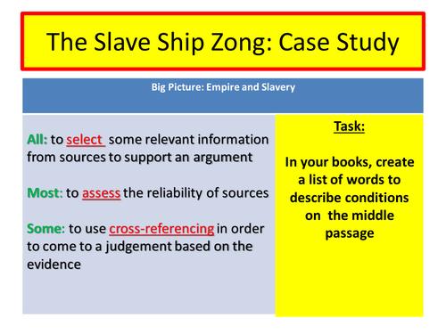 Slavery - Slave Ship Zong case study