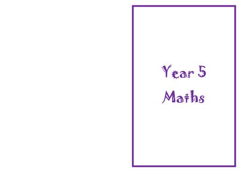 Maths challenge. Year 5