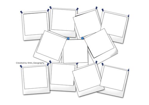 Polaroid montage template