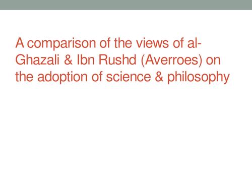 OCR A2 Islam Al-Ghazali and Ibn- Rushd (Averroes)