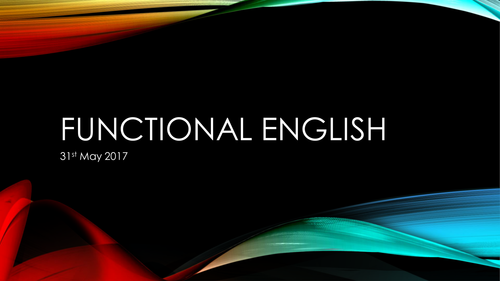 Intensive Functional Skills English Revision