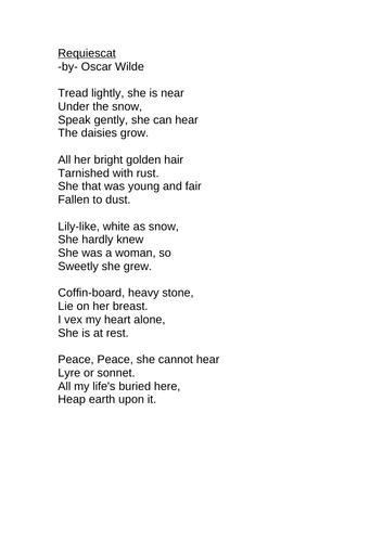 Oscar Wilde Poems For Children