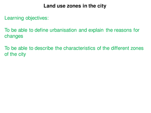 Land use zones