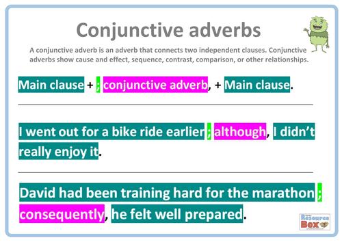 Of Adverbs Ks2 claudiubita – Conjunctive Adverbs Worksheet