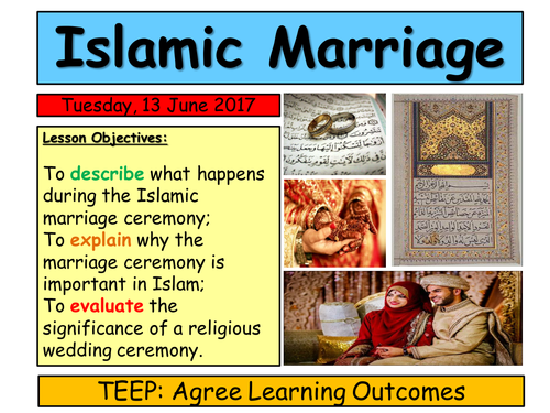 KS3 Islam- Marriage